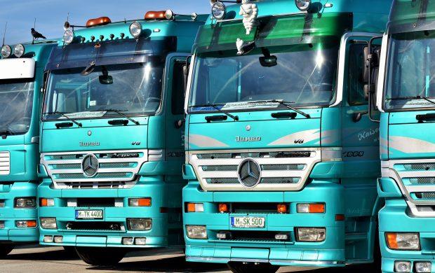 Front of Trucks